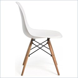 AEON Furniture Paris Dining Chair with  Legs in Matte White (Set of 2)