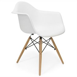 AEON Furniture Dijon - Wood Armchair in Matte White (Set of 2)