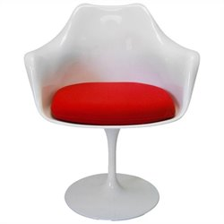 AEON Furniture AmsterdamArmDining Chair in Gloss White and Red