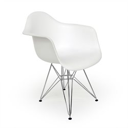 AEON Furniture DijonArmDining Chair in Matte White (Set of 2)