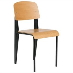 AEON Furniture Sally Side Chair in Black and White Oak (Set of 2)