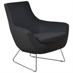 AEON Furniture Parker Upholstered Lounge Chair in Gray