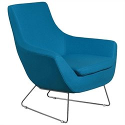 AEON Furniture Parker Upholstered Lounge Chair in Blue