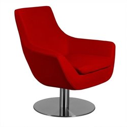 AEON Furniture Brett Lounge Chair in Red