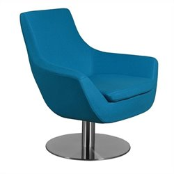 AEON Furniture Brett Upholstered Lounge Chair in Blue