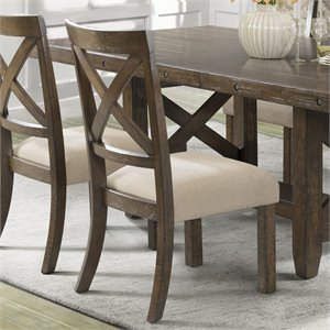 Picket House Furnishings Francis Side Chair in Chestnut (Set of 2)