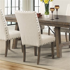 Picket House Furnishings Dex Dining Side Chair in Cream (Set of 2)