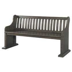 Picket House Furnishings Stanford Pew Bench in Dark Ash