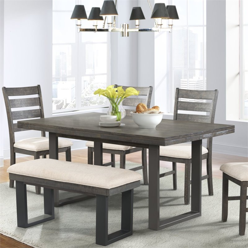 Picket House Furnishings Sullivan Dining Table In Dark Ash