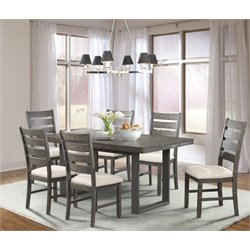 Picket House Furnishings Sullivan 7 Piece Dining Set in Dark Ash