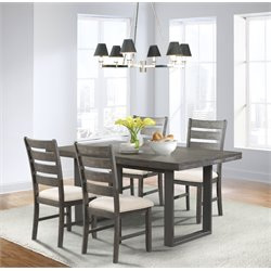 Picket House Furnishings Sullivan 5 Piece Dining Set in Dark Ash