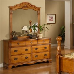 Picket House Furnishings Vivian 7 Drawer Dresser in Rich Pine