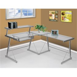 Picket House Furnishings Bueller L Shaped Desk in Silver