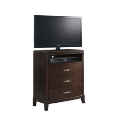 Picket House Furnishings Elaine Media Chest in Espresso