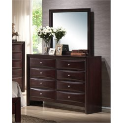 Picket House Furnishings Madison Dresser with Mirror in Mahogany