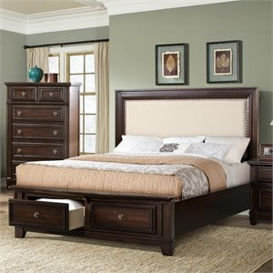 Elements Harland Bed in Espresso