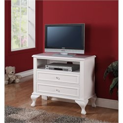 Picket House Furnishings Jenna Media Chest in White