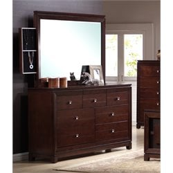 Picket House Furnishings Easton Dresser with Mirror in Cherry
