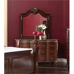 Picket House Furnishings Victoria Dresser with Mirror in Dark Chestnut