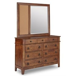 Picket House Furnishings Travis Dresser with Mirror in Brown