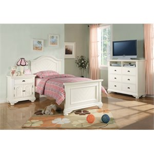 Elements Addison 4 Piece Bedroom Set in White