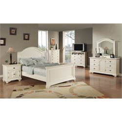 Elements Addison 6 Piece Bedroom Set in White
