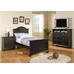 Elements Addison 6 Piece Bedroom Set in Black