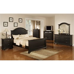 Elements Addison 4 Piece Bedroom Set in Black