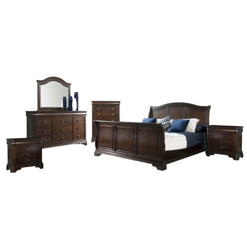 Picket House Furnishings Conley 6 Piece King Sleigh Bedroom Set