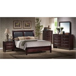 Elements Madison 4 Piece Bedroom Set in Mahogany