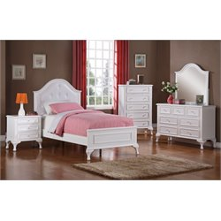 Elements Jenna 4 Piece Bedroom Set in White