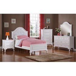 Elements Jenna 6 Piece Bedroom Set in White