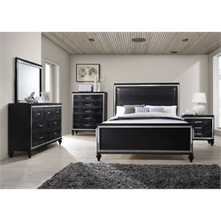 Elements Vice 6 Piece Bedroom Set in Black