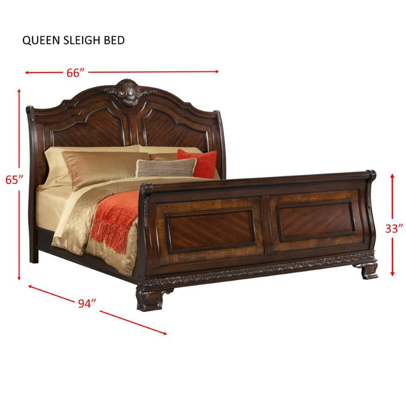 Picket house furnishings victoria 4 piece queen sleigh bedroom set st6504qb Home furniture victoria street