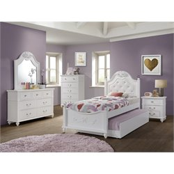 Elements Annie 5 Piece Bedroom Set in White
