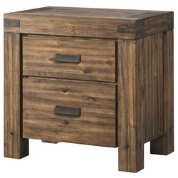 Picket House Furnishings Joel 2 Drawer Nightstand in Chestnut