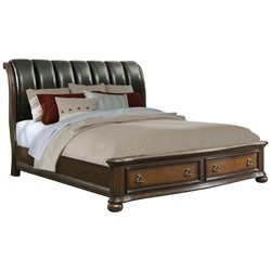 Picket House Furnishings Pentos Storage Bed in Chestnut