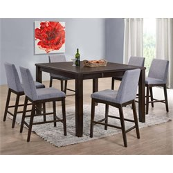 Picket House Furnishings Pyke Counter Height Dining Set in Espresso