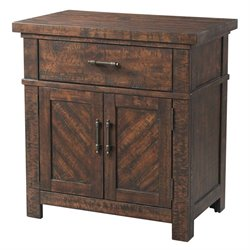 Picket House Furnishings Dex 3 Drawer Nightstand in Walnut