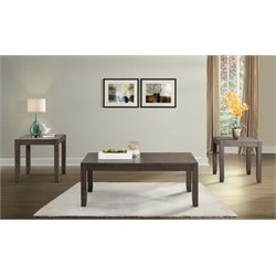 Picket House Furnishings Dex 3 Piece Coffee Table Set in Walnut