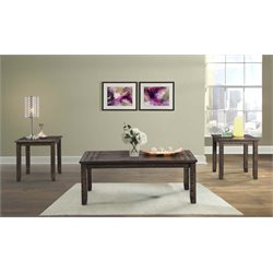 Picket House Furnishings Flynn 3 Piece Coffee Table Set in Walnut