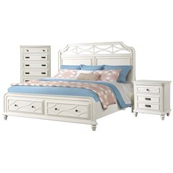 Picket House Furnishings Mysteria Bay 3 Piece Storage Bedroom Set in White