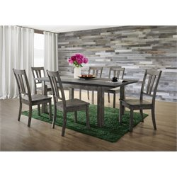 Picket House Furnishings Grayson Extendable Dining Set in Gray Oak 1
