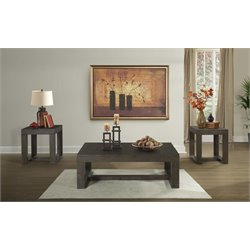 Picket House Furnishings Lexington 3 Piece Coffee Table Set in Walnut