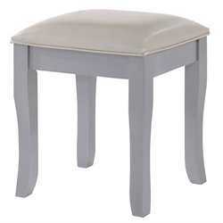 Picket House Furnishings Allie Vanity Stool in Walnut