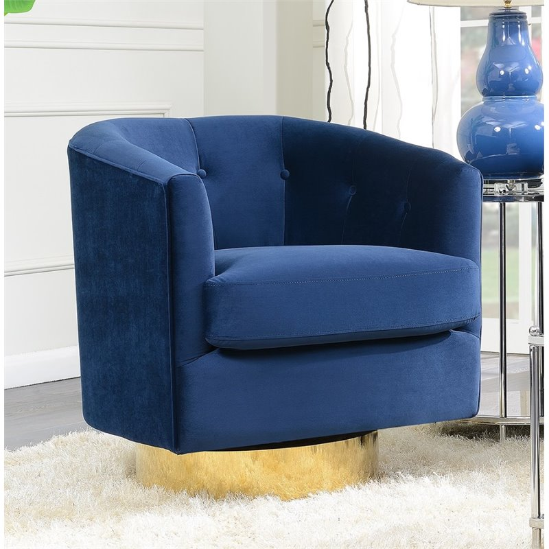 Picket House Furnishings Carolina Tufted Swivel Accent Chair