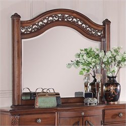 Picket House Furnishings Barkley Square Mirror in Warm Pine
