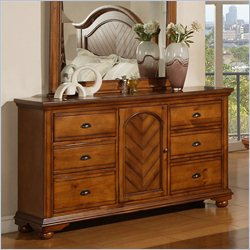 Elements Brook Dresser in Warm Chestnut