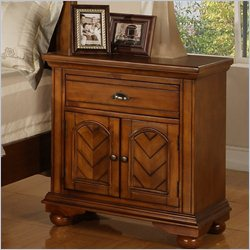 Elements Brook Nightstand in Warm Chestnut