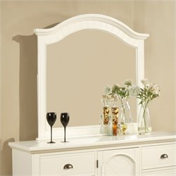 Elements Brook Mirror in Cottage White